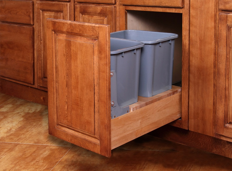 """Double Base Waste Basket Pull-Out 18"""""""