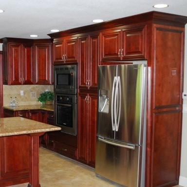 mahogany kitchen cabinets photos