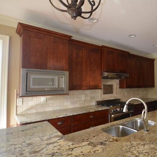 How To Set Kitchen Cabinets: Java Shaker Kitchen Cabinet Set