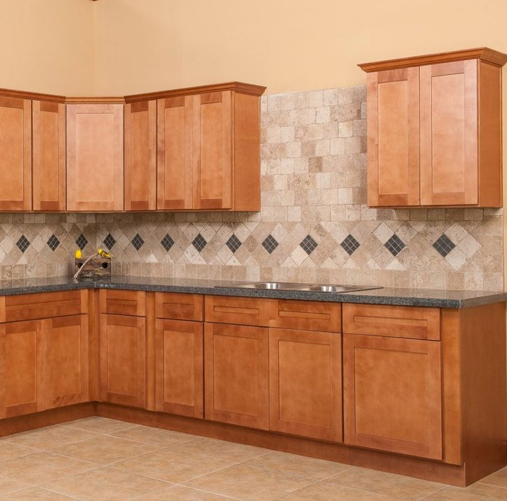 Consumers Kitchen Cabinets: Golden Shaker Kitchen Cabinet Set