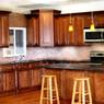 Mocha Maple Glaze Assembled Kitchen Cabinet Set