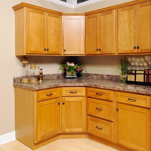 Oak Shaker Assembled Kitchen Cabinet Set