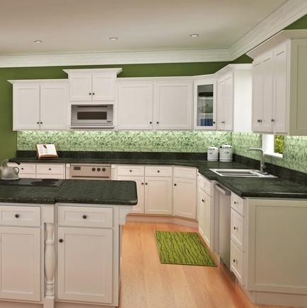 size 40 aa7cb 895eb White Shaker Assembled Kitchen Cabinet Set