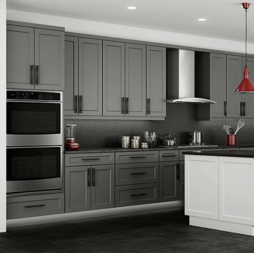 huge discount e6ca8 4a20f Grey Shaker Kitchen Cabinet Set