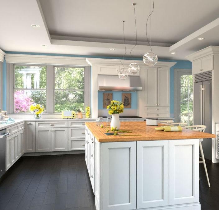 How To Set Kitchen Cabinets: Bristol White Kitchen Cabinet Set