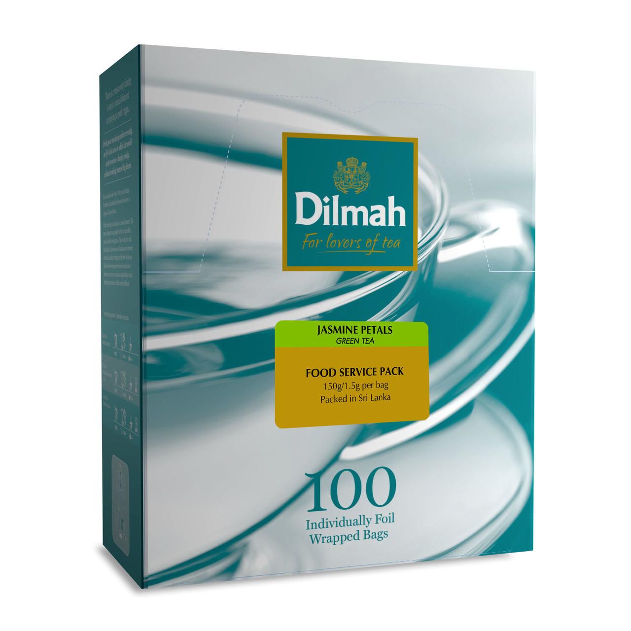 Jasmine Green Teabags Sachet 100e The Dilmah Shop