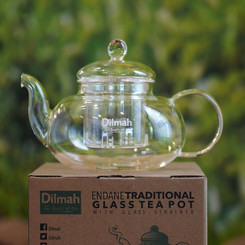 Endane Traditional Glass Teapot & Glass Infuser - 600ml