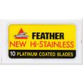 Feather 81-S New Hi-Stainless Double Edge Blade, 1 dispenser (1 x 10 blades/dispenser)