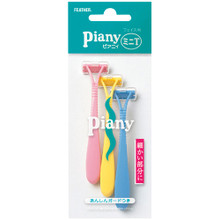 Feather Piany PI-MT D-version Lady's Razor for Face, 3pc/pk