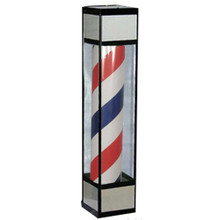 005 rotating barber sign pole light Square