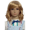 SHW-9 medium wavy blonde synthetic hair wig