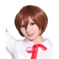 CHW-3 Brown Short Cosplay Hair Wig