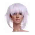 CHW-10 White Medium Cosplay Hair Wig