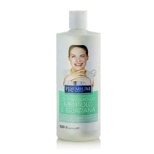 Premium massage oil 500ml, mentol & guarana - Hair-hub com