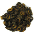 HP-0103#T2/144 curly bun clip-on hairpie