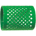 Green flocked curler 50x65mm 12pc/pk