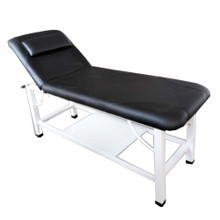 3733E-001 2 section massage bed, black
