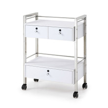 2703L-009 beauty trolley with three drawers