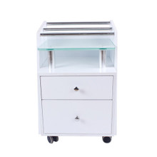 2703M-009 beauty trolley with two drawers