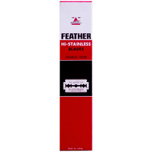 Feather 71-S New Hi-Stainless Double Edge Blade, 20 dispensers (5 blades/dispenser)