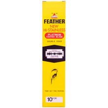Feather 81-S New Hi-Stainless Double Edge Blade, 200 blades (20 x 10blades/dispenser)