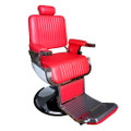 31307N-050 barber chair, red