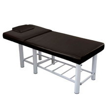 3733G-061-XL 2 section facial massage bed, brown