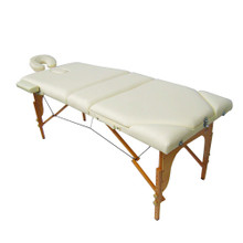 3729G-III-023-L Portable Wood Massage Table, beige
