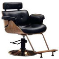 9036-001-V-RC vintage styling chair, black