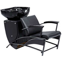 32804CA-001 shampoo basin chair set, black