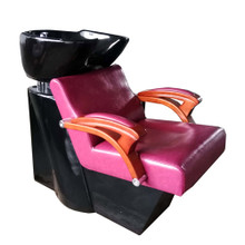 32804CHJ-050 shampoo basin chair set, red