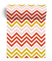 Zigzag Orange Paviot Napkin Roll