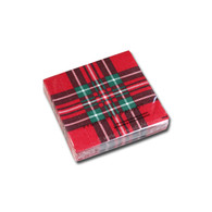 Red Tartan Cocktail Napkin