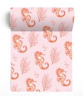 Seahorse Pink Paviot Napkin Roll