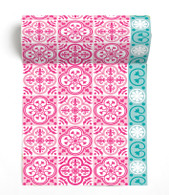 Carreau Pink Paviot Napkin Roll