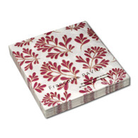 Ruby Brooch Leaves Dinner Napkin