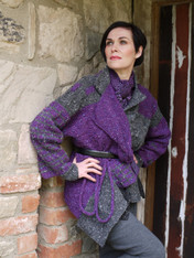 Plum/Black  Charcoal and Black SOLD OUT but SHIPPING end of Feb when NEW Irish Tweed stock comes in