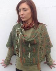 Green/Choc Linen