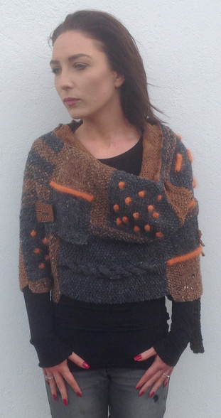 Charcoal/Choc /Peach Ship end of Feb with new Irish Tweed stock in