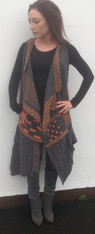 Charcoal/Choc/Peach SOLD OUT - BUT SHIPPING end Feb when new Irish Tweed Stock comes in