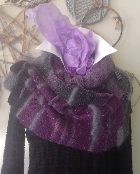 Plum/Charcoal/Black 3 colored Irish Tweed Ballymurphy