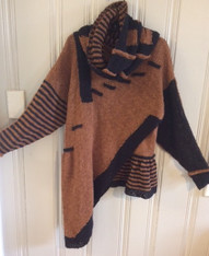 Front with Lined Cowl Choc/Black  SOLD OUT UNTIL END OF MARCH