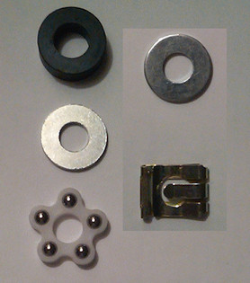 Replacement Office Chair Shock Cylinder Hardware Kit Clip Bearing  and Washers