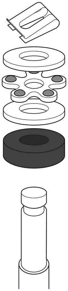 Aeron Chair Lift Washers Retaining Clip Bearings Replacement