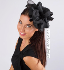 Black  Mounted on headband.