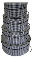 Hat Boxes-Houndstooth