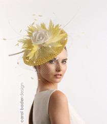 Shown here in Yellow/White Mounted on headband.