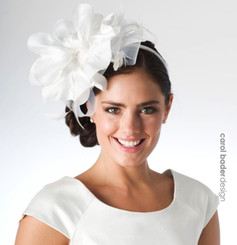 White/White  Mounted on headband.