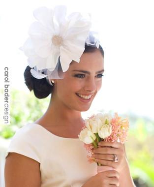 White/White  Mounted on headband.