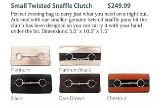 Small twisted bit clutch- 5 colors